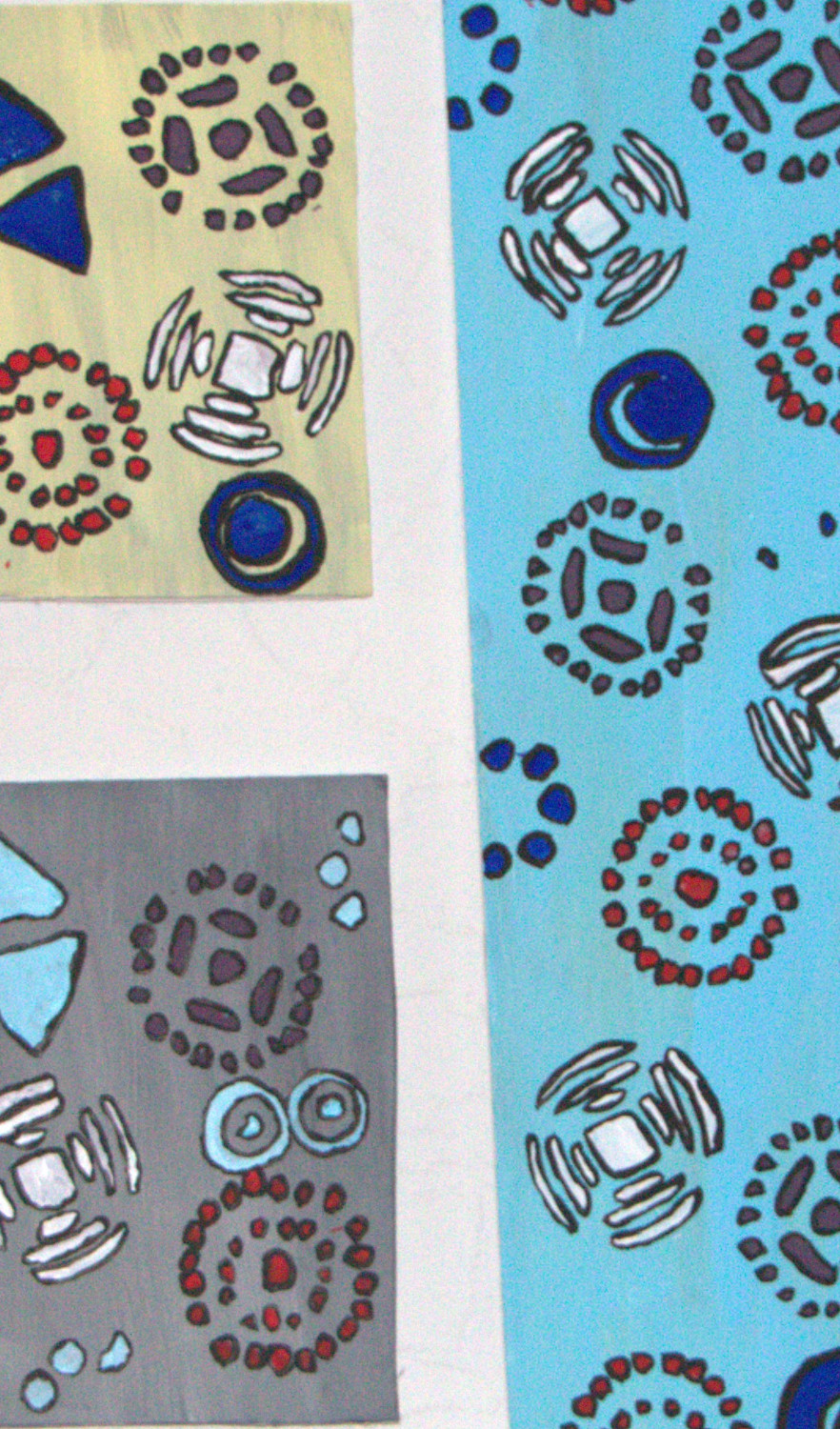 Abstract Painting Ideas For Beginners Using A Stencil