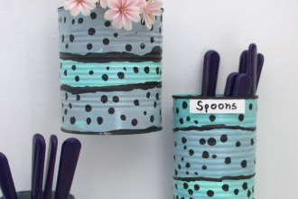 Recycle tin cans craft