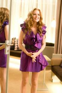Lanvin Dress   Fashion Isla Fisher in  Confessions of a Shopaholic  wearinga beautiful Lanvin dress