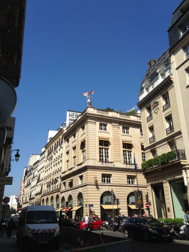 View of the Hermes flagship store on Rue Saint Honore