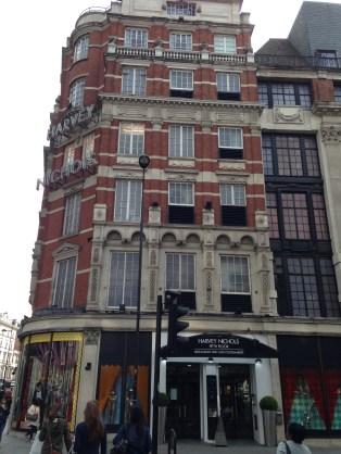 The beautiful exterior, located on Knightsbridge