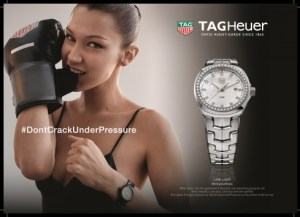 Tag Heuer - Bella Hadid, Don't crack under pressure