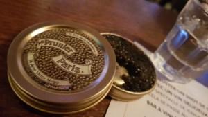 restaurant bistrot Les Sardignac Paris IX : caviar Prunier