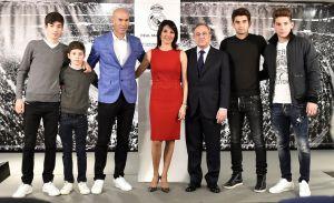 Zidane en famille