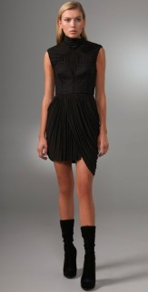 ALEXANDER-WANG-draped-dress-in-black-we-love-on-FDM-www.fashiondailymag.com-by-brigitte-segura