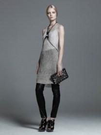 Temperley-London-Metallic-Dress-and-Lotta-Leather-Trousers-on-www.fashiondailymag.com-Brigitte-Segura