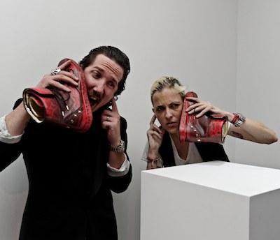 DJ samantha ronson and designer adrian margelist at NAVYBOOT photo image.net on FashionDailyMag