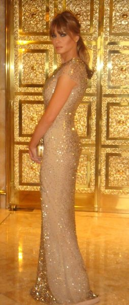 MELANIA TRUMP at MET GALA photo courtesy of publicist on FashionDailyMag