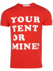 Topshop Red Marl Your Tent T-Shirt on www.fashiondailymag.com by Brigitte Segura