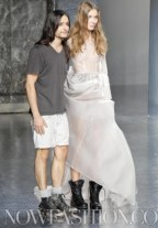 designer olivier theyskens cute with model ss12 photo nowfashion on fashoin daily mag
