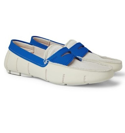 SWIMS rubber and mesh waterproof loafers for men MrPorter on FashionDailyMag
