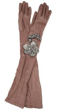 LANVIN crystal 30S STYLE embellished long leather gloves at NaP on FDMLOVES