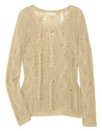 MICHAEL MICHAEL KORS cashmere blend open weave sweater FashionDailyMag