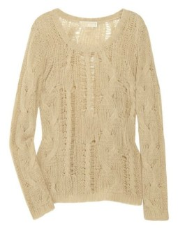 MICHAEL MICHAEL KORS cashmere blend open weave sweater FashionDailyMag