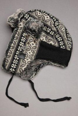 PERRY-ELLIS-FAIR-ISLE-fuzzy-hat-guys-on-FashionDailyMag