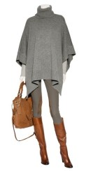 RALPH LAUREN CASHMERE melange poncho FashionDailyMag sb cashmere for the holidays