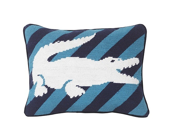 Special Edition Pillow LACOSTE X JONATHAN ADLER croc fdm LOVES