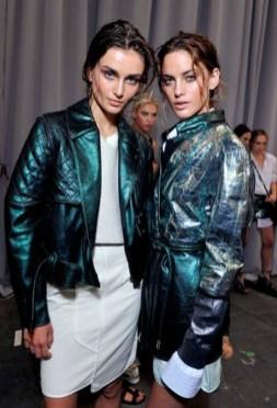 DIESEL BLACK GOLD backstage green leather sp 12 FashionDailyMag sel 8 brigitte segura