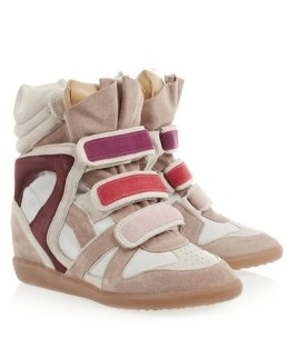 ISABEL MARANT willow pink sneaks at NetAPorter on Fashiondailymag vday