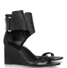 KARL woven patent leather wedges FashionDailyMag loves