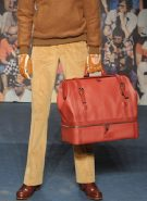 TRUSSARDI mens fall 2012 sel 6 red bag FashionDailyMag