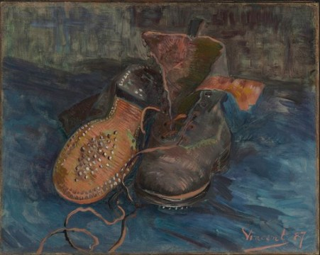 VAN GOGH pair of shoes from baltimore museum of art at phila museum exhibit | FashionDailyMag 9