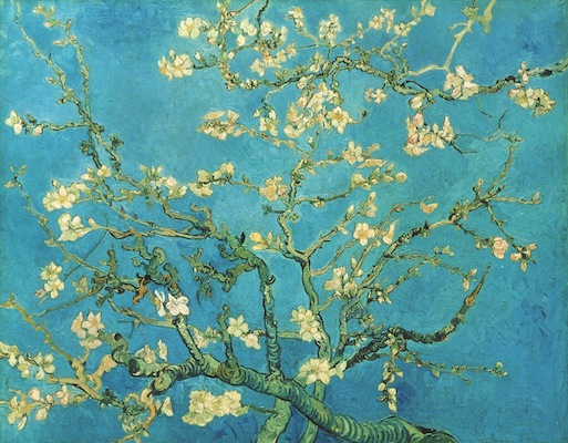 GOGH almond blossom 1890 at PHILA MUSEUM OF ART on FashionDailyMag