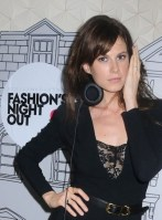 Elettra Rossellini Wiedemann dj's as celebrity guests arrive for the party at the Stella McCartney-Vogue Fashions Night Out 2011 in the Meat Packing District of the West Village in NYC