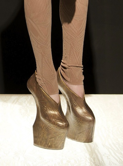 leather japan fall 2012 NYFW shoes gaga wears on FashionDailyMag