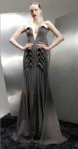 BASIL SODA AW 2012 RTW FashionDailyMag sel long gown charcoal PFW