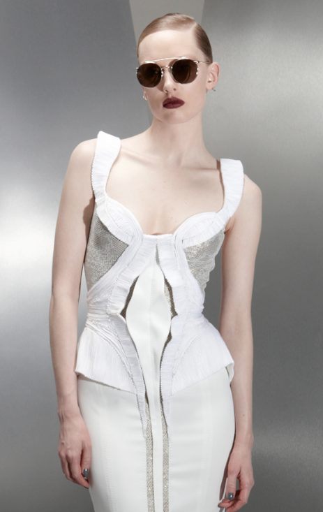 BASIL SODA AW 2012 RTW FashionDailyMag sel white on white PFW