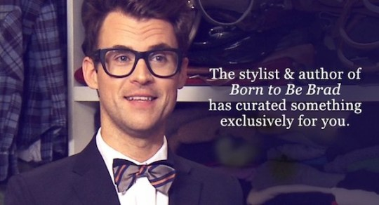 BRAD GORESKI closet confession at belleandclive on FashionDailyMag