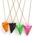 EA BURNS recycled leather NEON PENDANTS at ICUINPARIS.com FashionDailyMag eco-friendly