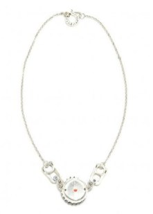 Lamia Benalycherif PARIS recycled jewelry silver cap necklace at ICUinPARIS in FASHIONDAILYMAG trend on earth day