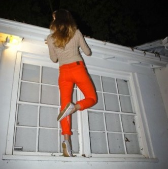 RALEIGH DENIM spring peony orange jeans FashionDailyMag sel 1 brigitte segura