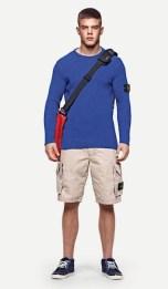 STONE island blue knit with shorts FashionDailyMag boys club