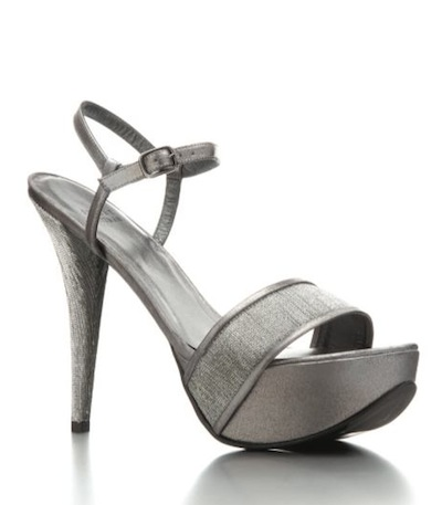 stuart weitzman silver shoes for occasion