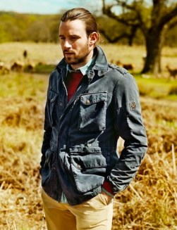 BELSTAFF oxney washed cotton jacket over MMM washed shirt MrPorter field jackets on FashionDailyMag
