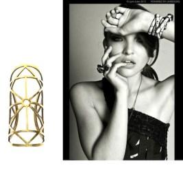 JEWELRY GIRL photo lynn lane with pamela love cuff on FashionDailyMag