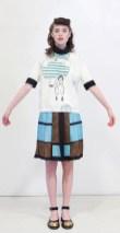 MARNI fall 20123-13 casual foulard geo pattern skirt blue FashionDailyMag