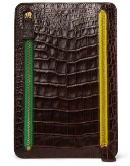 SMYTHSON crocodile embossed currency wallet MrPorter spring 2012 on FashionDailyMag
