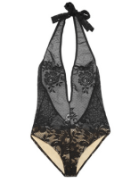 YSL halter neck stretch lace bodysuit FASHIONDAILYMAG loves