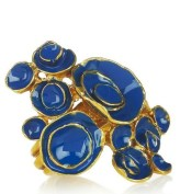 YVES SAIN LAURENT artsy enamel ring blue fdm ode to pilati