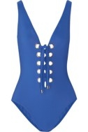 KARLA-COLLETTO-blue-Lace-up-plunge-front-swimsuit