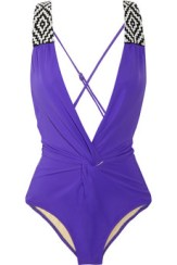 MARA-HOFFMAN-Beaded-plunge-front-swimsuit
