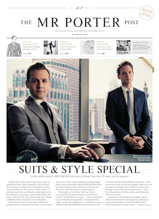 Suits style sharp dressed men fashion daily mag for Mr porter live