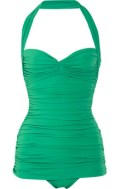 NORMA-KAMALI-Bill-ruched-halterneck-swimsuit