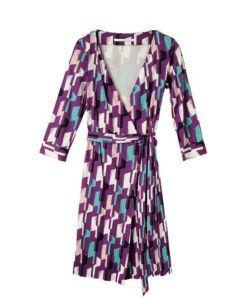 DIANE VON FURSTENBERG wrap dress exclusive pattern Bon Marche