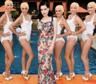 Dita Von Teese with the Aqualillies 1