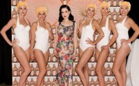 Dita Von Teese with the Aqualillies 2-1